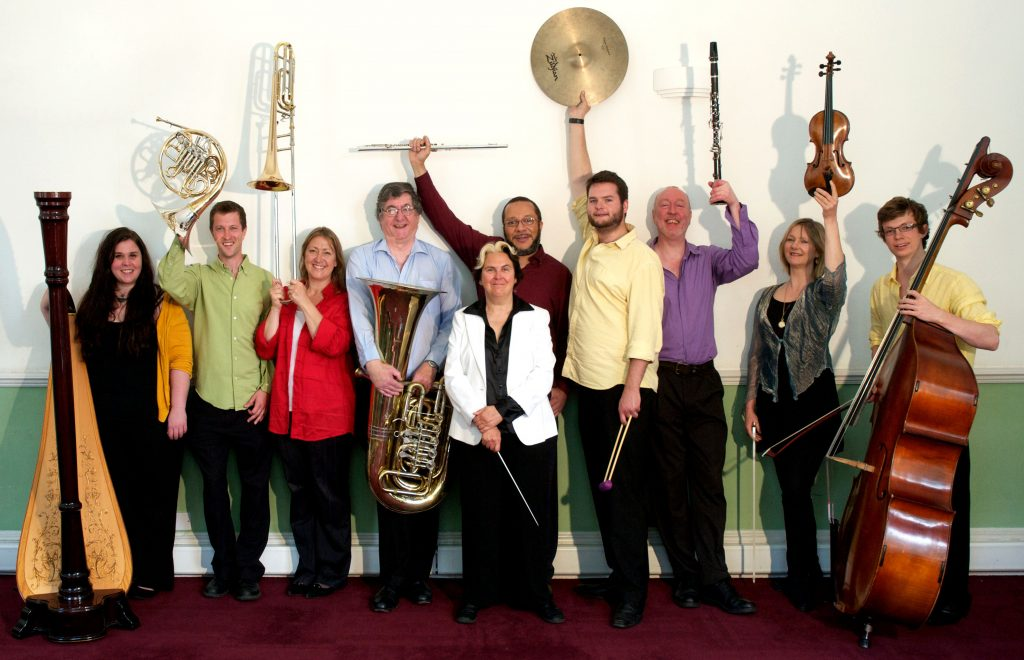 Odealine de la Martinez and her Lontano Ensemble. Photo by Malcolm Crowther