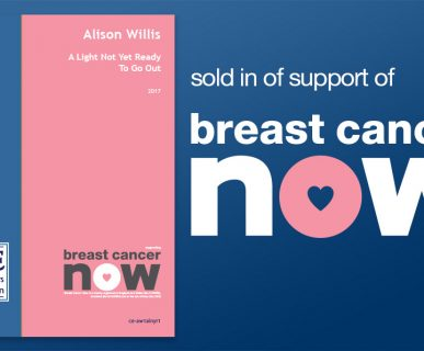 A light not yet ready to go out sold in support of breast cancer now