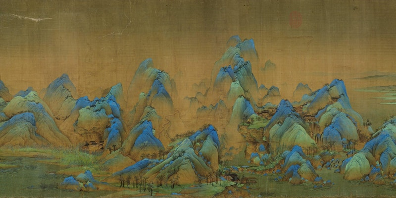 Wang Ximeng: A Thousand Li of Rivers and Mountains (detail)