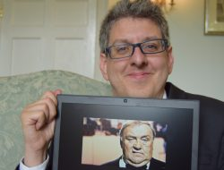 Thomas Hyde with Les Dawson photo