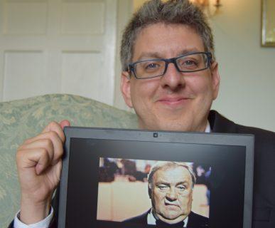 Thomas Hyde with Les Dawson photo