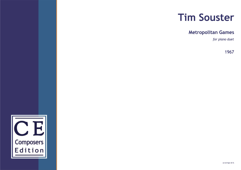 Tim Souster Metropolitan Games for piano duet