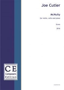 Joe Cutler McNulty for violin, cello and piano